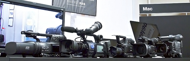 Camera tests at Hannu Pro showroom in Riga